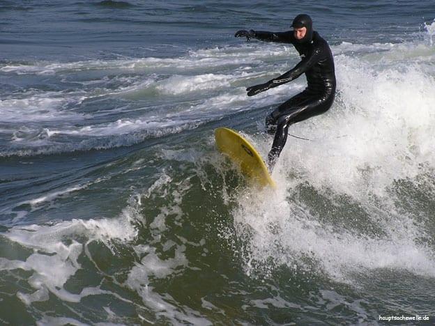 Wellenreiten Ostsee Rügen