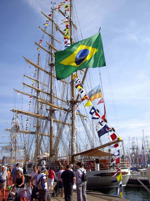 Brasilianisches Schiff auf der Hanse Sail 2011