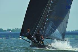 Edel und Scharf Saling Team GER 85 Stralsunder Segelwoche